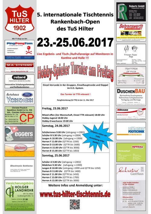 Rankenbach-Open Ausschreibung 2017