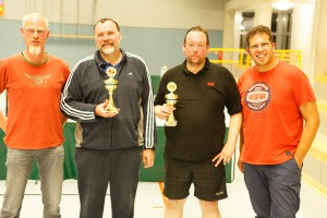 17. Ortsmeisterschaften 2014: Sieger im Doppel: Andreas Hagedorn, André Dimek, Stephan Hagedorn, Michael Kamsties